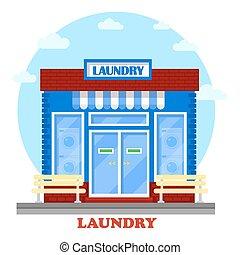 建物, ありなさい, 使われた, 洗濯物, 缶, 構造, showcase., 主題, セルフサービス, 洗いなさい, 衛生, 建築, laundromat., ファサド, washhouse, 衣類, ∥あるいは∥, 機械, 清掃