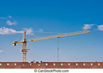 建物, れんが, 建設