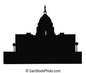 建物, アウトライン, dc, 国会議事堂
