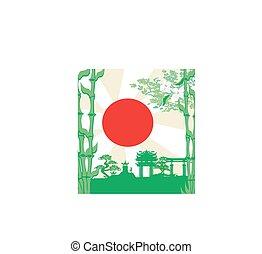 建物, アジア人, カード