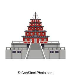 建物, アジア人, 寺院