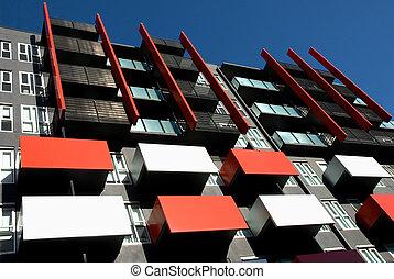 建物, アパート, 外面