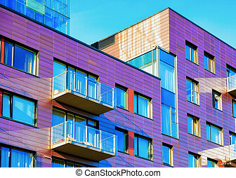 建物, アパート, 現代, 贅沢, 外面