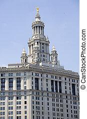 建物, アメリカ, 市の, 都市, -, ヨーク, 新しい, マンハッタン