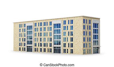 建物。, イラスト, 3d