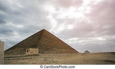 建物, エジプト, ランドマーク, saqqara, ピラミッド, 早く, 赤, 複合センター, 歴史