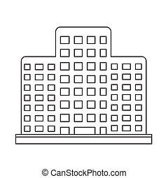 建物, オフィス, アイコン