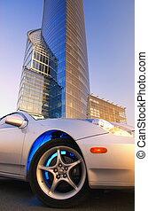 建物, オフィス, 自動車, 現代, 前部, スポーツ