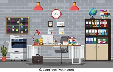 建物, オフィス, interior.