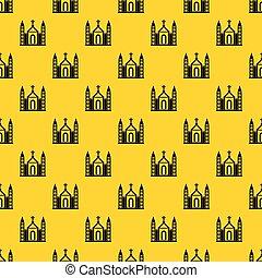 建物, カトリック教, キリスト教徒, パターン, ベクトル, 教会