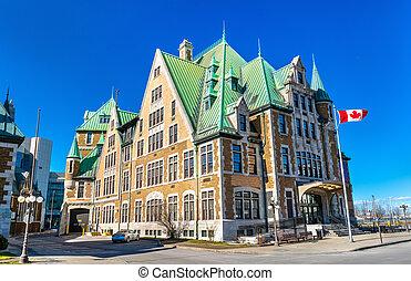 建物, カナダ, 歴史的, ケベック 都市
