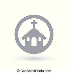 建物, キリスト教徒, 印。, 教会, icon., 宗教