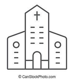 建物, キリスト教徒, 線である, 印, パターン, バックグラウンド。, ベクトル, 建築, 教会, グラフィックス, アイコン, 線, 白, 薄くなりなさい