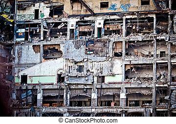 建物, コマーシャル, 捨てられた, デトロイト