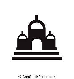 建物, シンボル, アイコン, ∥あるいは∥, 教会