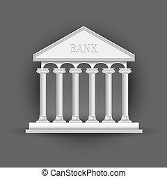 建物, シンボル, 銀行