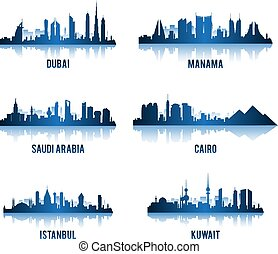 建物, セット, 中央, 有名, 都市, 東