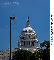 建物, タービン, 国会議事堂, 風, 枠にはめられた