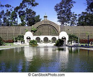 建物, ディエゴ, 公園, balboa, 植物