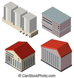 建物, デザイン, 別