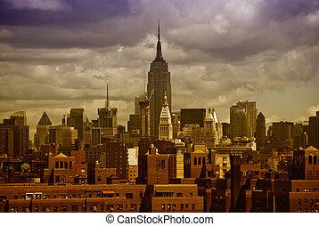 建物, ニューヨークシティ, 州, 超高層ビル, 帝国