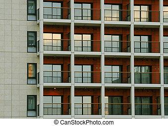 建物, パターン, 現代
