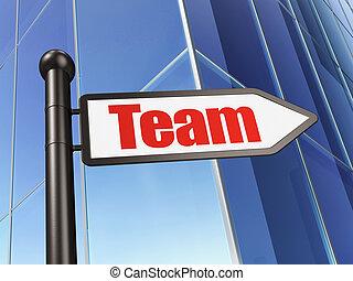 建物, ビジネス 印, 背景, チーム, concept: