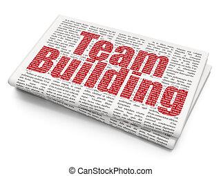 建物, ビジネス, 背景, チーム, 新聞, concept: