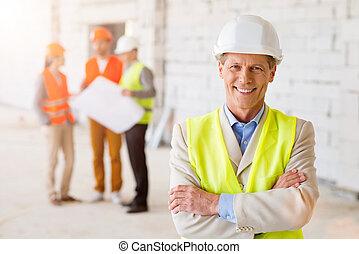 建物, プロジェクト, team., ビジネス
