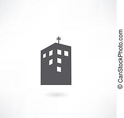 建物, ベクトル, シンボル