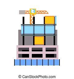 建物, ベクトル, 建設, 現代, イラスト