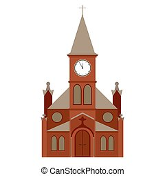 建物, ベクトル, 教会
