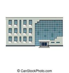 建物, ベクトル, 現代, イラスト