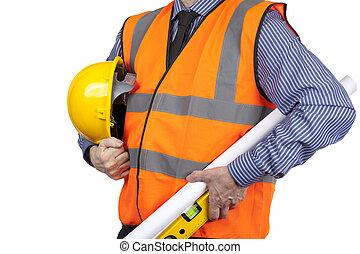 建物, ベスト, レベル, sprit, 視界, 測量技師, 届く, 図画, オレンジ