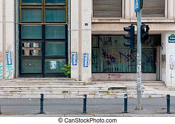 建物, ペイントされた, ルーマニア, bucharest, イメージ