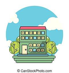 建物, ホテル, 漫画