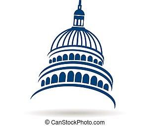 建物, ロゴ, 国会議事堂