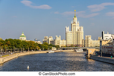 建物, ロシア, 堤防, kotelnicheskaya, モスクワ