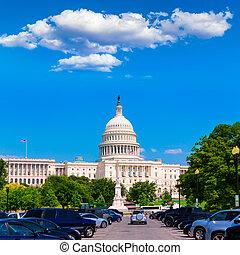 建物, ワシントン, 国会議事堂, アメリカ, DC