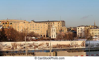 建物, 中に, モスクワ