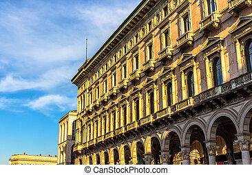 建物, 中に, ∥, 歴史的, 中心, の, ミラノ