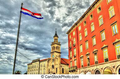 建物, 中に, ∥, 歴史的, 中心, の, 分裂, -, croatia