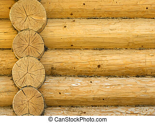 建物, 丸太, 家, 木, 外面, 家, 構造