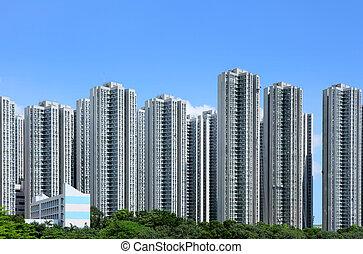 建物, 住宅の, 香港