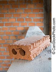 建物, 使われた, 住宅の, 産業, 材料, サイト, 建設, れんが, ブロック