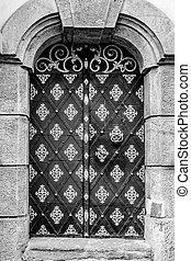 建物, 入口, 歴史的, ドア