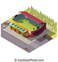 建物, 公衆, 都市, 競技場, 等大