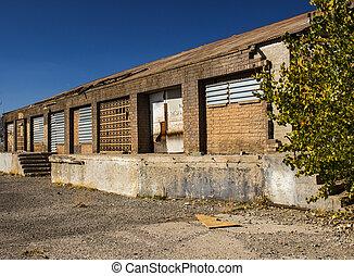 建物, 古い, コマーシャル, 捨てられた