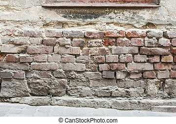 建物, 基礎, 石, 古い