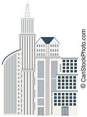 建物, 大きい, 現代, 都市